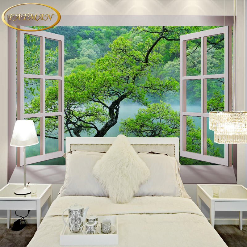 Buy custom 3d photo wallpaper modern fake - Murales fotograficos pared ...