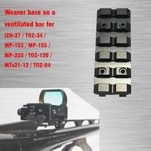 Weaver barre de rail ventilée, pour IZH 27 / MP 153 / MP 155 / MP 233 / TOZ 120 / MTs21 12 / TOZ 84