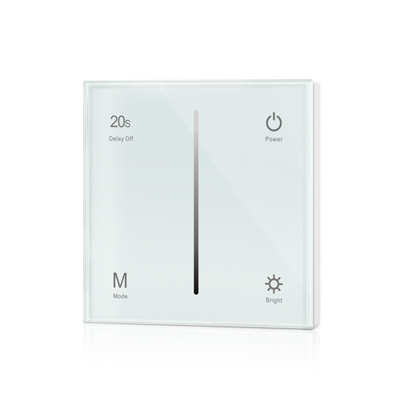 New T1-1 Led Dimmer 12V Low Voltage DC 12-24V Input 144W -288W Output Wall Mount Touch panel Led Single Color Strip Slim Dimmer ketlin priilinn armastusega fännidelt