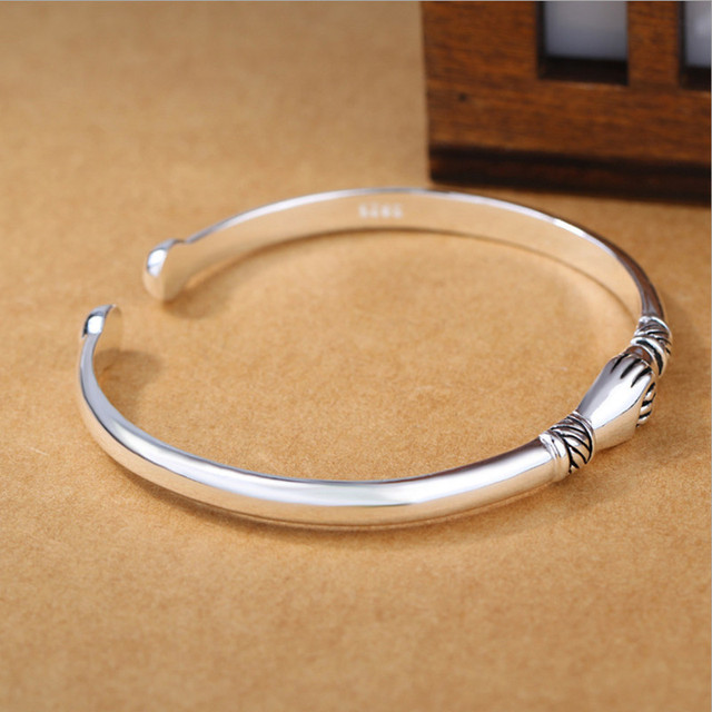 925 Sterling Silver Jewelry Bracelets Opening Handshake  2