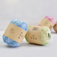 Best Quality 100 Cotton Organic Hand Knitting Dyed Combed Yarn For Knitting Crochet Bohemia Design 50g