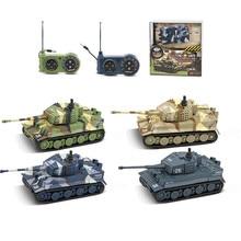 Радиоуправляемый Танк Детские игрушки Красочные 1: 72 имитация мини Радиоуправляемый боевой танк форта вращающиеся боевые танки бронированный автомобиль пульт дистанционного управления игрушка