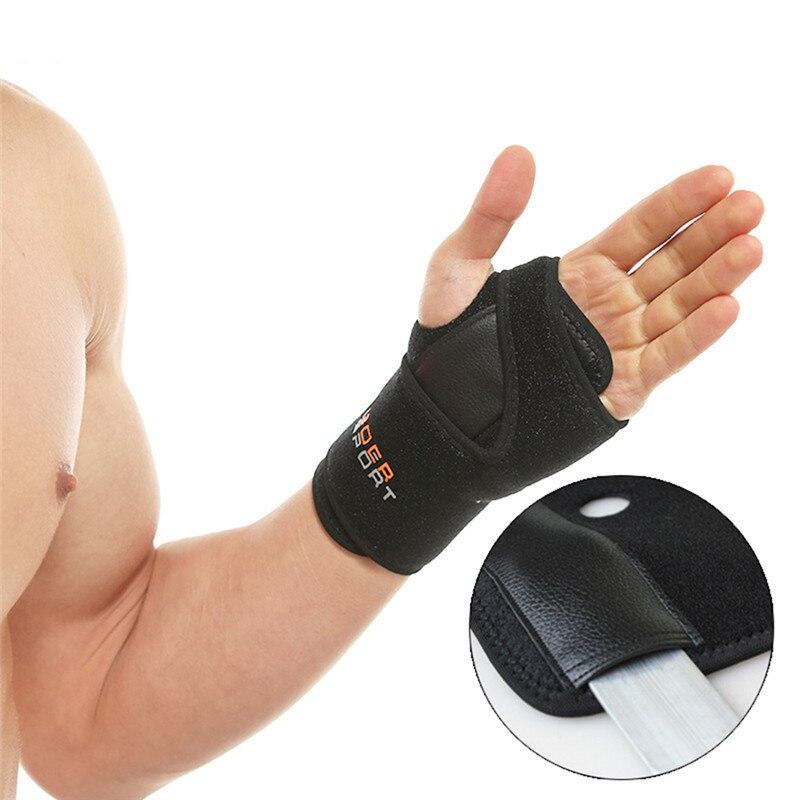 Hand Wristbands Removable Adjust Wristband Steel Wrist Brace Wrist Support Splint Fractures Carpal Tunnel Sport Sprain Mouse