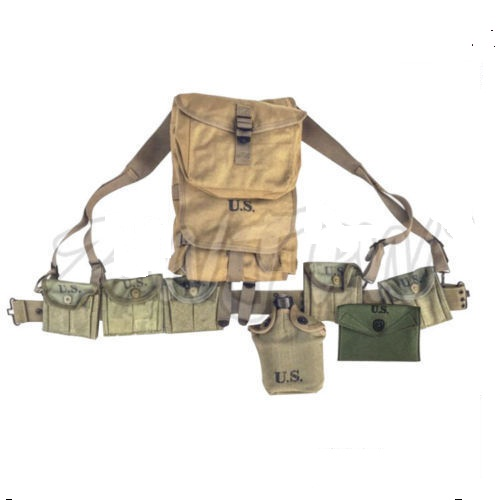 Climbing Bags Back To Search Resultssports & Entertainment Flight Tracker Ww2 Us Army Equipment M1928 Bag Belt First Aid Kit And 0.8l Kettle X Type Straps Spade