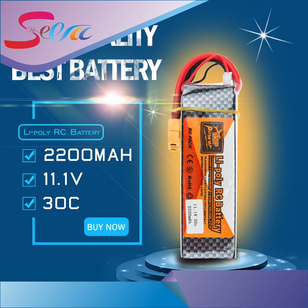 ZOP Lipo Battery 11.1V 2200Mah 3S 30C Max 35c XT60 / T Plug For RC Helicopter Qudcopter Drone Truck Car Boat Bateria Lipo zop power lithium polymer lipo battery 11 1v 1500mah 3s 40c xt60 for rc helicopter car truck hobby drone bateria
