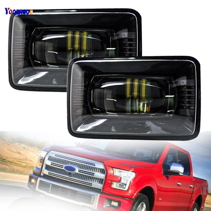 Car LED Fog Lights For Ford F150 Super Duty 2015 2016 2017 2018 Direct For Ford F-150 2015 2016 2017 2018 H11 LED Fog Lights for f150 raptor f 150 led tail light rear lights for ford 2008 2012 year smoke black sn