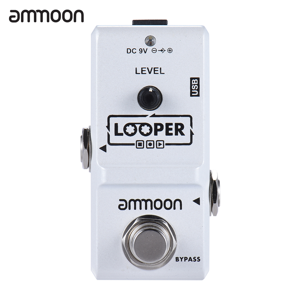 Ammoon AP-09 Nano Series Loop Effect Looper Electric Guitar Effect Pedal True Bypass Unlimited Overdubs 10 Minutes Recording