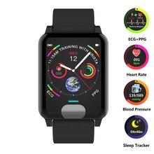 Смарт-часы ЭКГ + PPG умный Браслет фитнес-трекер пульсометр монитор кровяного давления часы умный Браслет для IOS Android телефон
