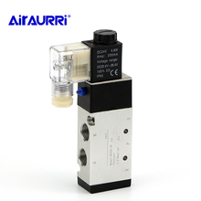 4V310-10 Solenoid Valves Air  2 Position 5 Port 2/5 Way12V/24V DC 110V/220V ACGas Control Valve 3/8