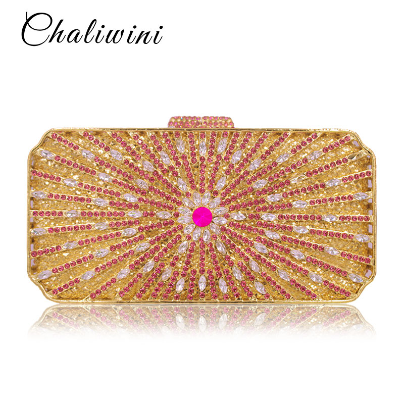 Luxury Gold Crystal Flower Women Evening Bag Peacock Diamond Party Purse Women Chain Handbags Wedding Bag Day Clutches Luxury Gold Crystal Flower Women Evening Bag Peacock Diamond Party Purse Women Chain Handbags Wedding Bag Day Clutches