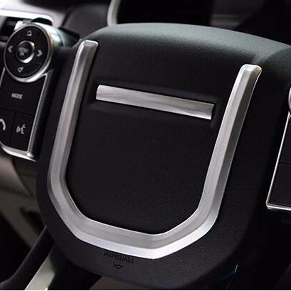 Garniture d'autocollant de couverture décorative de volant pour les accessoires d'intérieur de sport de range rover