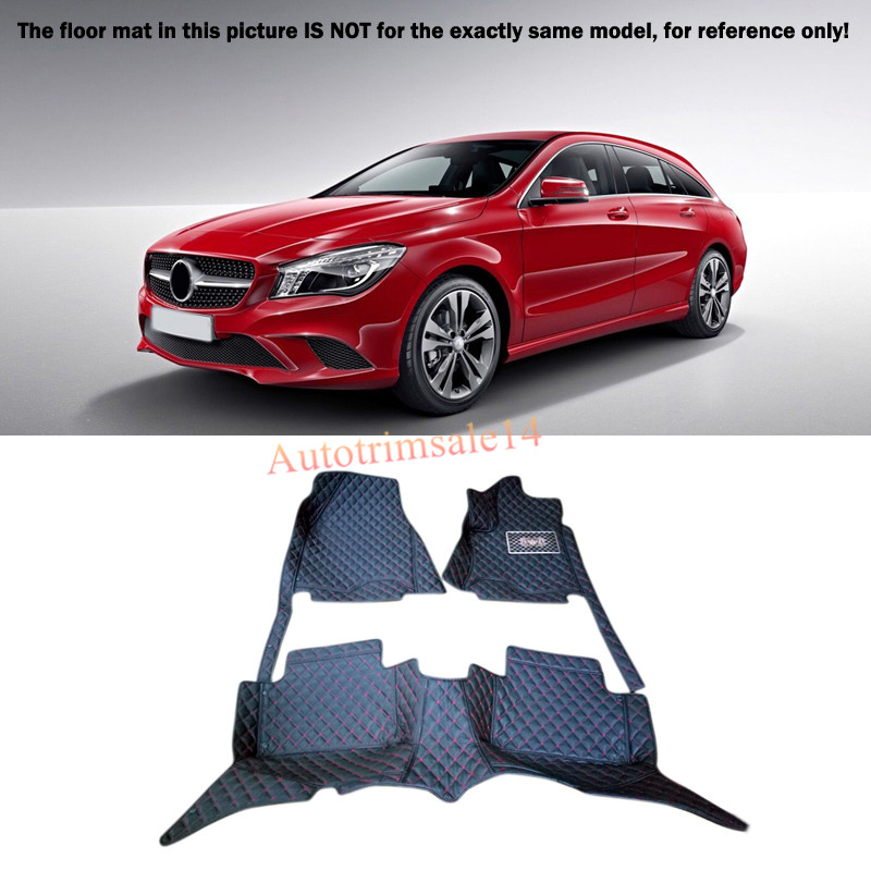 Black Interior Floor Mats & Carpet Foot Pad For Mercedes Benz CLA 2014-2016 C177 auto fuel filter 163 477 0201 163 477 0701 for mercedes benz