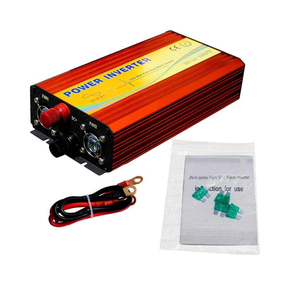 ECO-SOURCES 1000 W onduleur 24 V à 110 V hors réseau onduleur 1KW onduleur pour système solaire de panneaux solaires