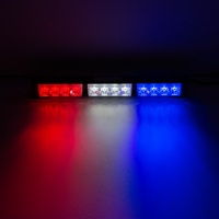 12V Car Warning Light 3 Color Emergency Stobe Car Lamps 12W Flashing LED