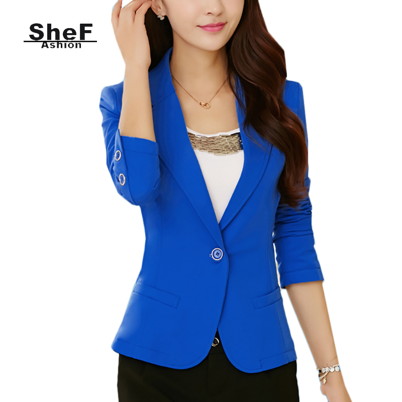 Blazers Womens Blazers Female Business Work Office Formal Styles Suit Yellow Blue White Green Female Jackets Coat Outwear
