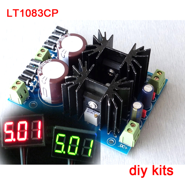 LT1083CP high-power hifi linear regulada DC POWER BOARD KIT dois saída do canal