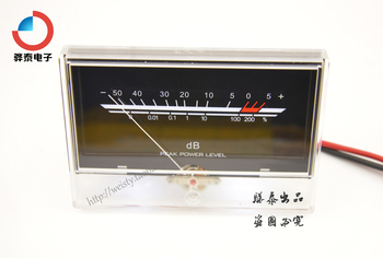 1pcs VU meter power amplifier power level meter audio DB head backlight P-134 for WA133 Chassis