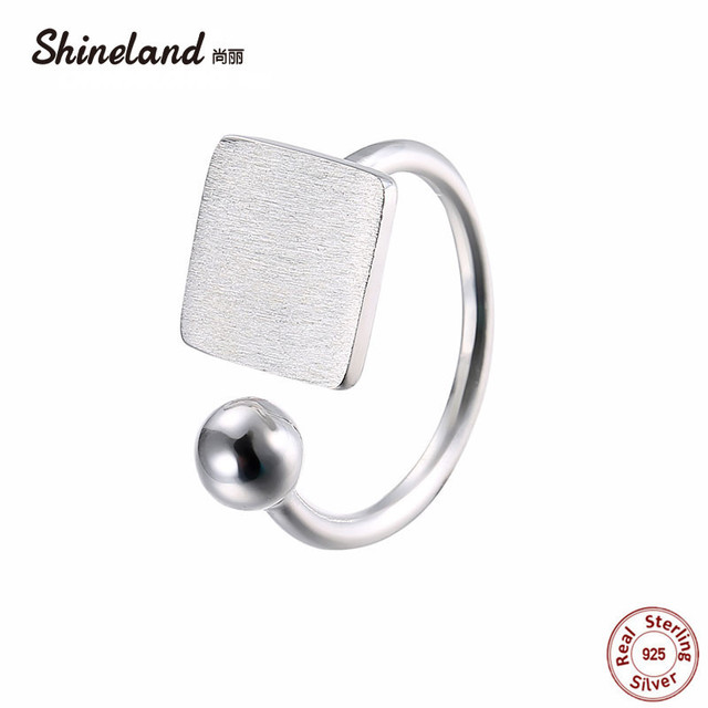 Shineland 100% Genuine 925 Sterling Silver Square Handmade Wire ...