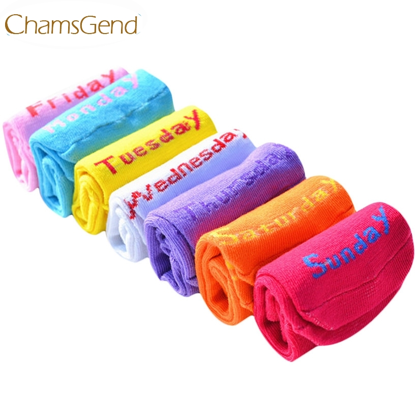 Chamsgend Newly Design 7 Pairs One Set Socks Week Seven Days Socks Fashion Casual Ankle Crew Cotton Socks June15 Drop Shipping