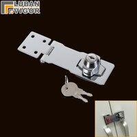 Multiusos fivela de bloqueio  dobradiça bloqueio  fácil de instalar  parafuso de porta de Correr  para uma variedade de móveis  armário/gavetas/caixa de bloqueio