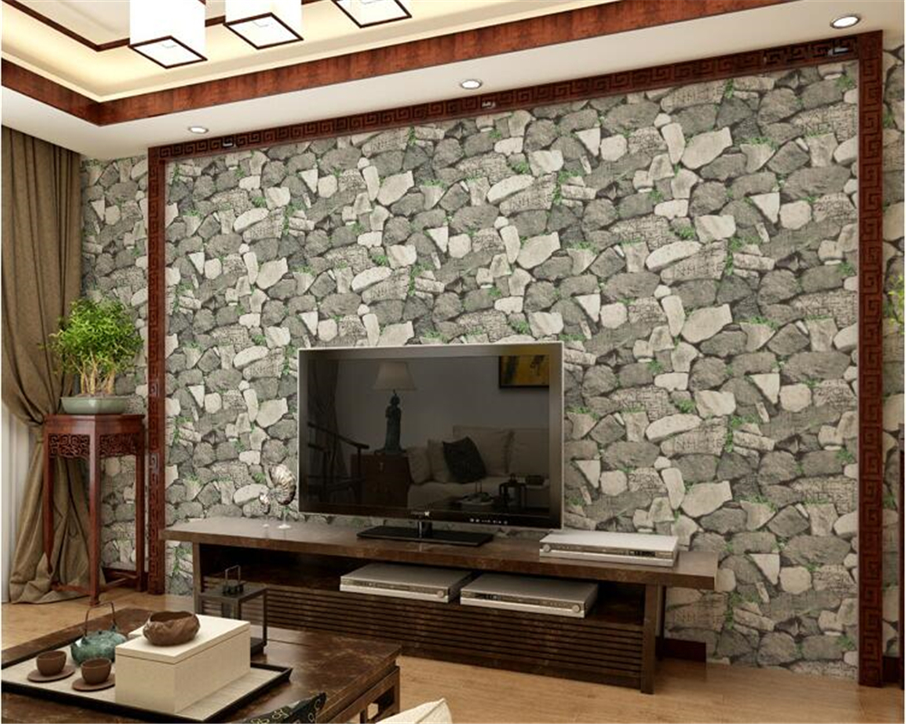 beibehang PVC Personalized three-dimensional fashion retro realistic rock 3d wallpaper restaurant cafe background wall paper beibehang three dimensional soft bag background wall wallpaper hotel decoration 3d wallpaper fashion waterproof scrub wallpaper
