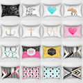 Hot sale letters love heart pineapple pillow case  rectangle bedroom pillow cases large  bedroom pillow cover 70*50cm