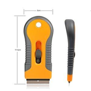 Image 2 - EHDIS – grattoir de rasoir avec lames en acier, outils de teinture, couteau, raclette de fenêtre, autocollant de voiture, Film vinyle, dissolvant de colle, 10 pièces