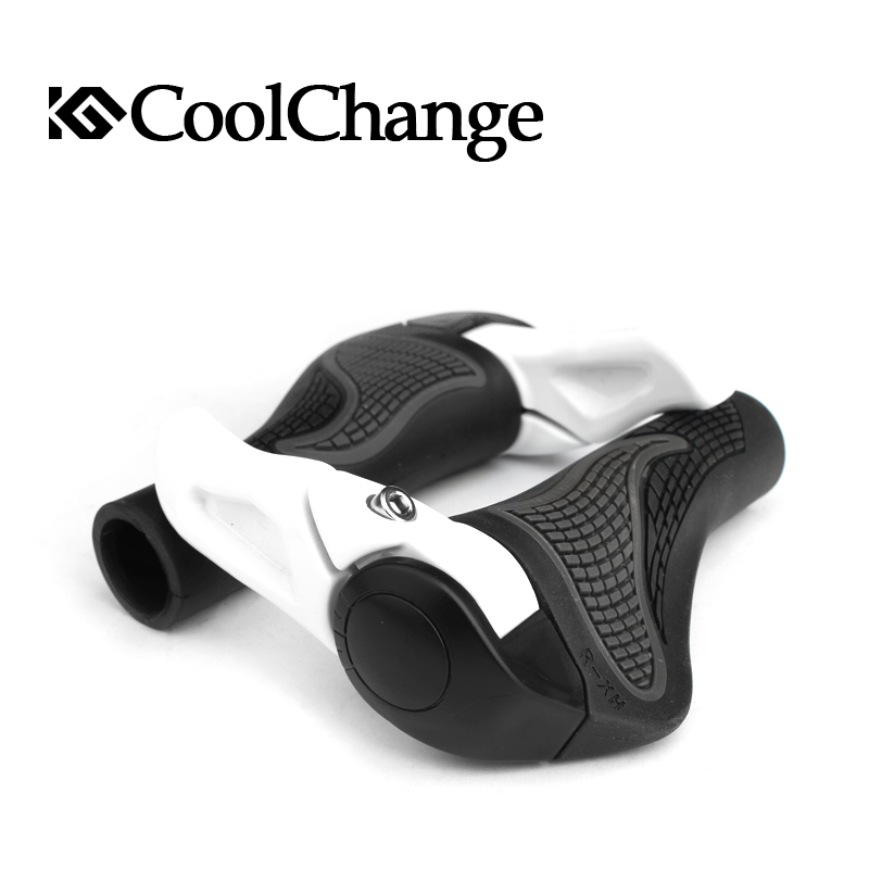 CoolChange Bicycle Bike MTB Components Bar ends Handlebars Rubber Grips & Aluminum Barend Soft Grips, 2 Colors,Free Shipping easydo bike bicycle mtb touring ergonomic kraton grips fiberglass barends bar ends handlebars push on soft rubber grips 5 colors