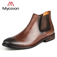 MYCORON New Arrivals Winter Autumn Men Shoes Genuine Leather Luxury Designers Men Boots Handmade Men Boots Bota Masculina