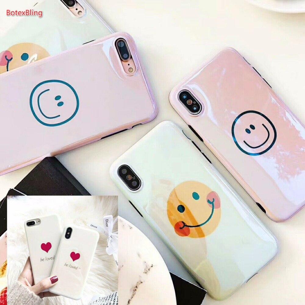 font b 2018 b font BotexBling Luxury cute smile love Blu ray soft TPU silicone