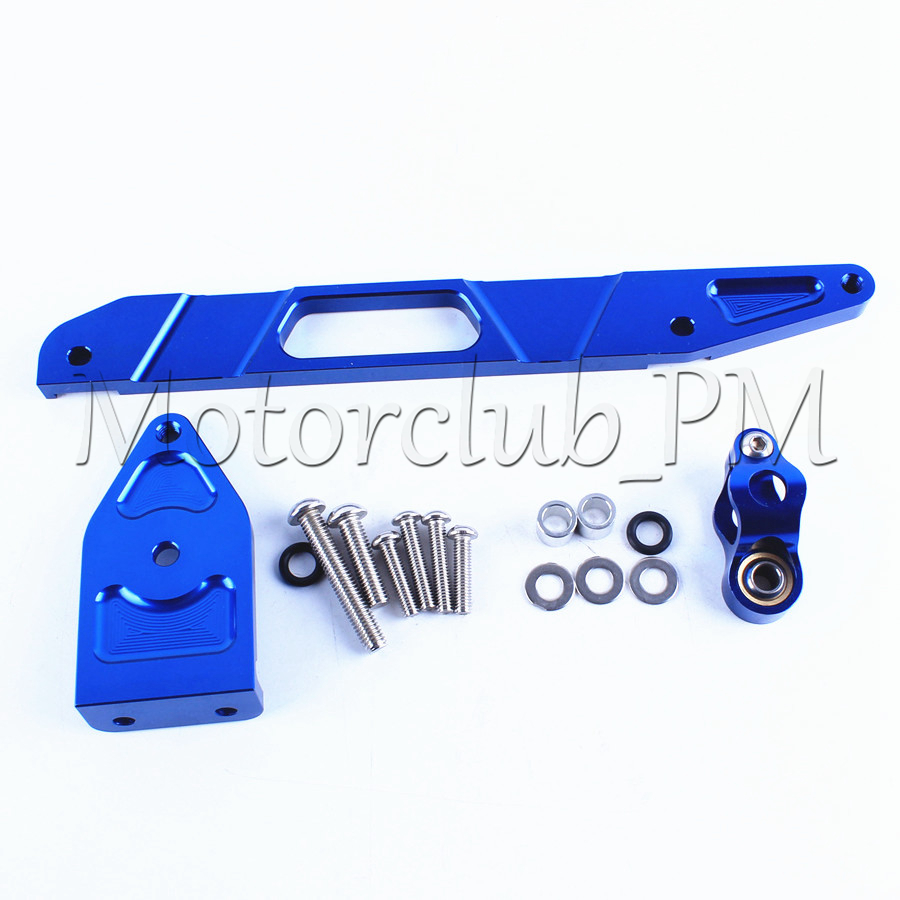 Steering Stabilize Damper Bracket Mount Kit For Yamaha XJR1300 2002-2015 2009 2012 2014 Replacement New Blue cnc steering damper mounting kit bracket for yamaha xjr1300 2002 2015 2004 2006 2008 2010 2012 2014 xjr 1300 new