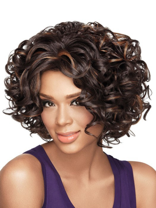 1PC Short Synthetic Wigs Natural Curly Wig For African American Black Women Curl Kanekalon Fiber U Part Wig 180% density unprocessed full lace wigs long black wig glueless virgin brazilian hair curly wigs for fashion black women