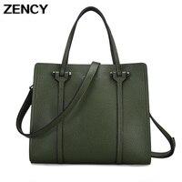 100 Genuine Leather 2017 European Style New Shopping Bag Women Ladies OL Tote Handbag Designer Ladies