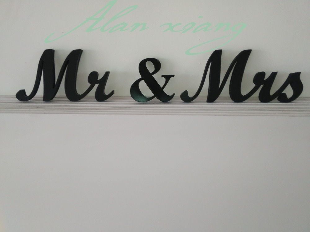 Mr And Mrs Large Wooden Letters: Aliexpress.com : Buy Free Shipping Blackest Mr And Mrs PVC