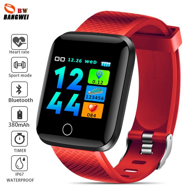 LIGE Smart bracelet Women Men Heart Rate Blood Pressure Monitor Sport Fitness Tracker Smart Wristband watch Pulseira inteligente