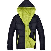 New Fashion Winter Jacket Men's Warm Coat Jacket Mens Parkas Jackets Men's Coat Zipper Hooded Collar Jacket Men Size S-5XL цена