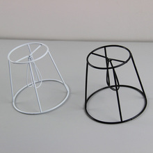 Buy lampshade frame and get free shipping on aliexpress mengdengwei 6pcs dia 14cm iron lampshade frame diy clip on greentooth Images