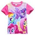 My Little Pony Camisetas Para Niñas Tops de Verano de Dibujos Animados Camiseta Adolescente Cabritos de la Ropa de Los Niños Blusa Monya