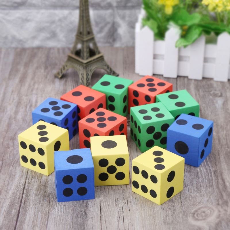 6pcs Math Toys Giant EVA Foam Dice Kid Educational Toys Party Game Dice Block Q