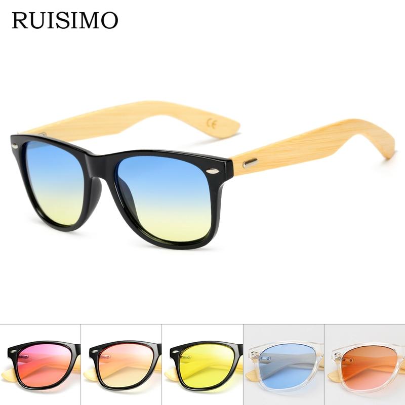 17 Farbe Holz Sonnenbrille Männer Frauen Platz Bambus Sonnenbrillen Designer Spiegel Sonnenbrille Für Männer Frauen Retro De Sol Masculino Tropf-Trocken