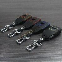 Genuine Leather Car Key Ring Key Cover For Su Baru Forester 2008 2014 Shell Car Key