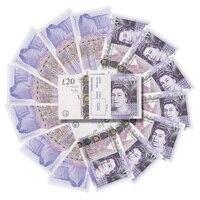 Поддельные деньги Великобритания фунты GBP британский английский банк 20 пакет 20 заметок идеально подходит для фильмов фильмы играть поддель