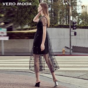 Image 3 - Vero Moda Embroidered Gauzy Slip Dress Party Dress