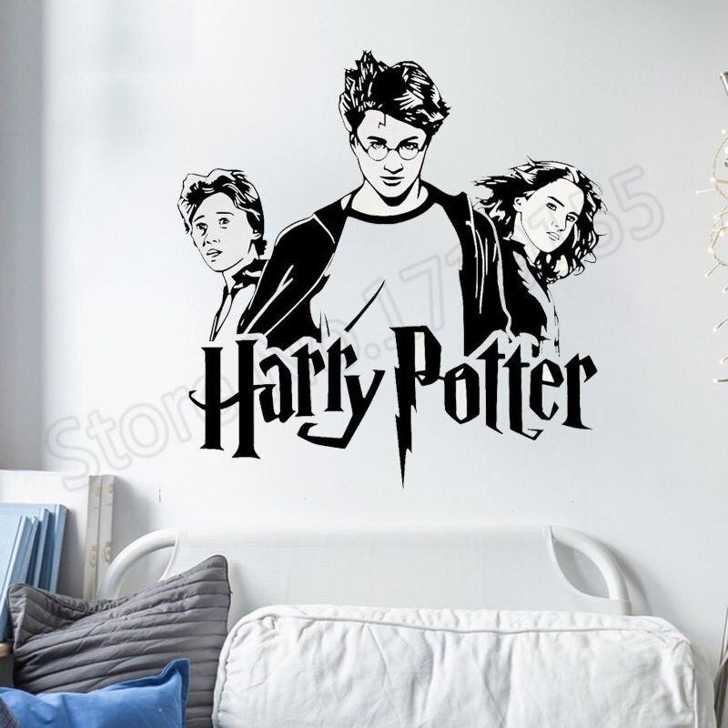Trio de Harry Potter Hogwarts Harry Potter Hermione Ron Para Quartos Dos Miúdos Adesivos de Parede Qoutes Decalque Da Parede Do Vinil Mural Sala Dos Meninos ZW256