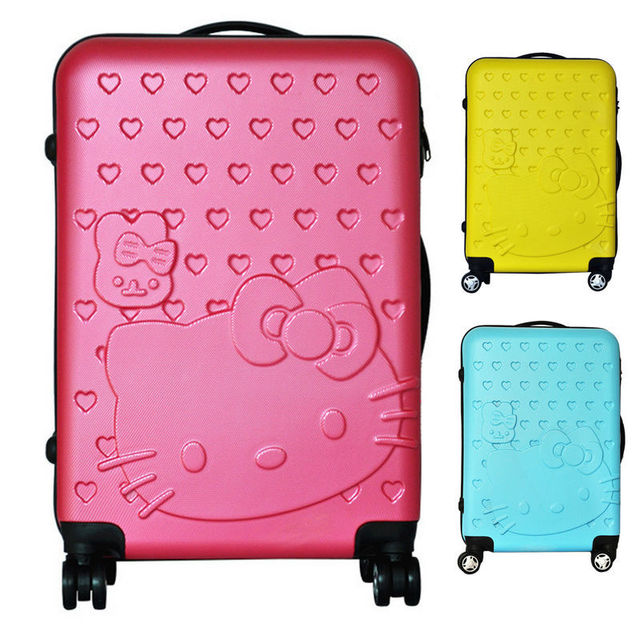 Hello kitty suitcase luggage trolley bag women   men s travel bags kids  suitcases rolling luggage 4a8707deed64