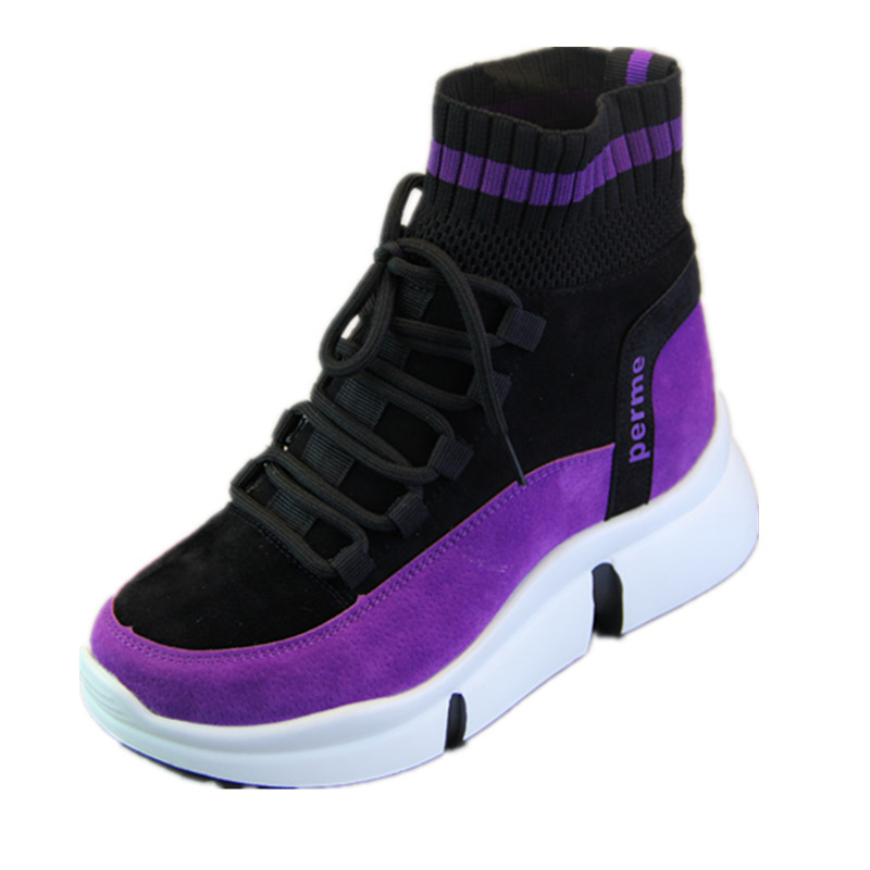 XJRHXJR marque chaussures femmes Designer baskets chaussures décontractées 2019 haut femmes appartements chaussures de marche chaussures vulcanisées 40 - 6