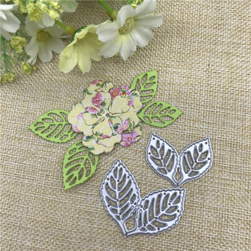 2pcs Leaf Decoration Metal Cutting Dies Stencil Scrapbooking Photo Album Card Paper Embossing Craft DIY