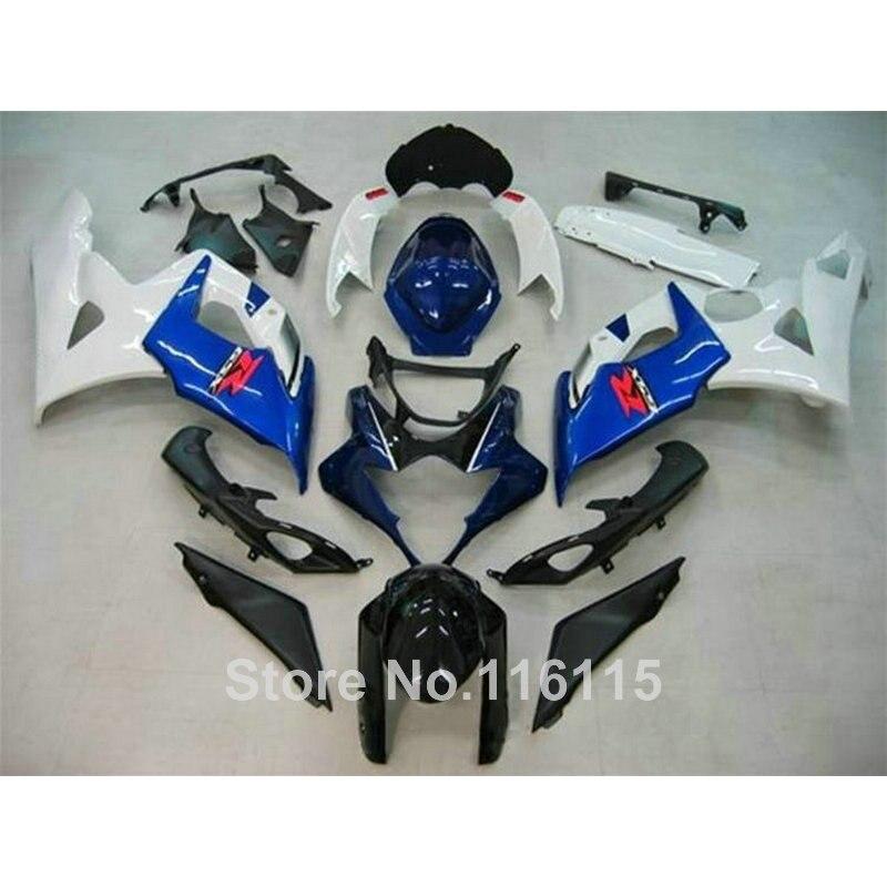 Injection bodykits for SUZUKI K5 K6 GSX-R1000 2005 2006 white blue black fairing kit GSXR1000 05 06 motorcycle fairings SL82 custom road fairing kits for suzuki glossy flat black 2006 gsxr 1000 k5 2005 gsx r1000 06 05 motorcycle fairings kit