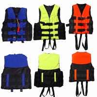 6 Sizes  Polyester Adult Life Jacket Professional Swimming Boating Ski Drifting Foam Vest with Whistle Prevention Flood