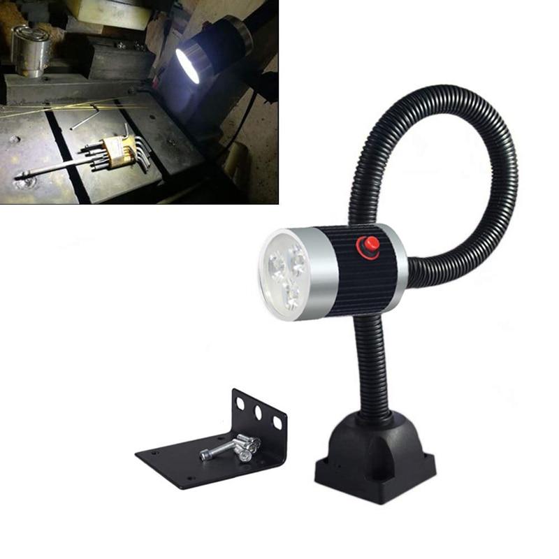 5W CNC Machine LED Lamp 500mm Magnetic//Fixed Base Working Lamp Light 110-220V US